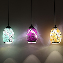 Tiffany glass pendant lights style country balcony bar mosaic light food drink color glass lighting pendant lamps ZA