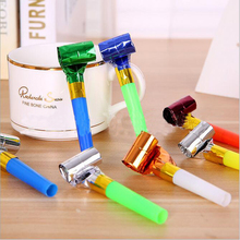 10pcs Mix color Funny Colorful Whistles Kids Childrens Birthday Party Blowing Dragon Blowout Baby Birthday Supplies Toys gifts