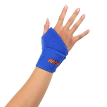 Sport Wristband Adjustable Strap Hand Wrist Supports Wrist Guard Band Brace Support Carpal Pain Wraps Black Blue(China)