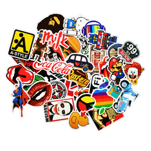 50pcs /lot Mobile phone Sticker Bomb Decal Vinyl Roll Car Skate Skateboard Laptop Luggage for iphone tcl htc for travel box(China)