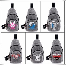 Game Anime Overwatch DVA GENJI ONE PIECE Fate messenger bags Canva Casual Shoulder Bag for boys girls cool gift 10 style