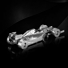 F1 Racing 3D Jigsaw Puzzles For Boy Stainless Steel DIY Assembly Car Model Learning Educational Toy Kids Toys Brinquedos