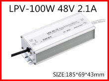 100W 48V 2.1A LED constant voltage waterproof switching power supply IP67 for led drive LPV-100-48(China)