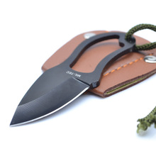 Mini Pocket Knife Finger Paw Self-Defence Survival Fishing Neck Knife Sheath for Outdoor Camping Tactical(China)