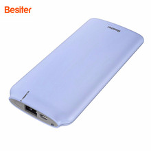 Buy Besiter 10000mAh Mobile Power bank Ultra-thin Polymer External Battery Portable Mobile phone Poverbank Dual USB Cable for $16.00 in AliExpress store