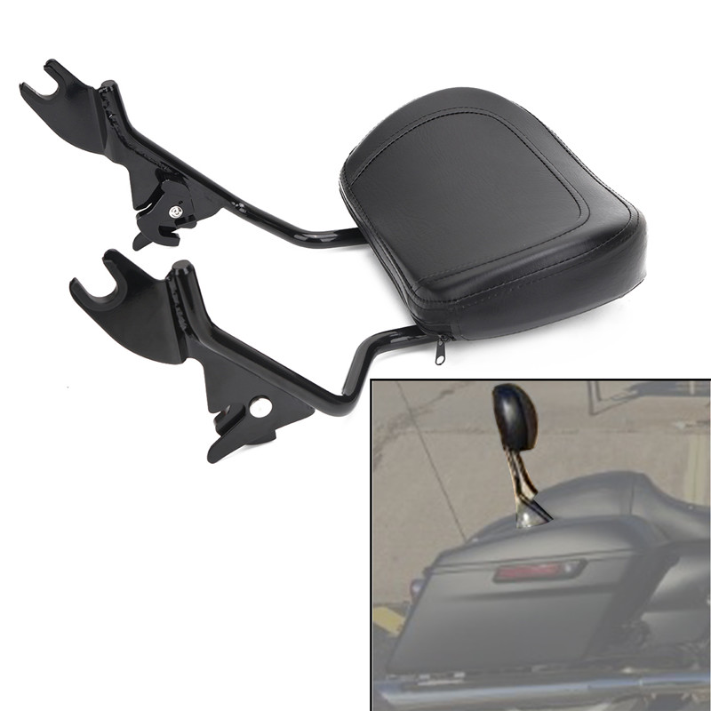 Adjustable Detachable Backrest Sissy Bar With Pad Passenger Backrest For Harley Davidson Touring Road King Electra Street Glide 2009-2017 (1)