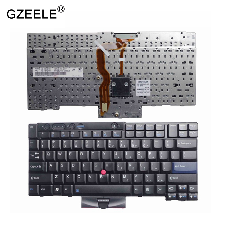 GZEELE New for Lenovo for Thinkpad for IBM X220 X220I X220T T410I T510I W520 T420S T520 English laptop keyboard US version black<br>