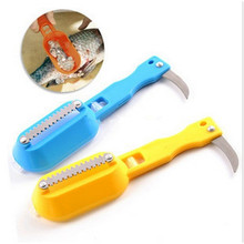 Fast Cleaning Fish Skin Steel Fish Scales Brush Shaver Remover Cleaner Descaler Skinner Scaler Fishing Tools knife(China)