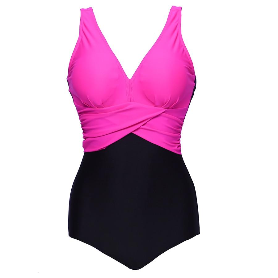 Women Femme Swimwear V-neck Solid Bikini Bodysuit Summer Style Sexy Swimsuit Colorful Beach Wear Biquini 6Colors<br>