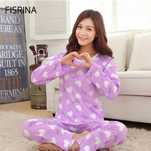 Women Pajamas Sets Hot spring Summer long Sleeve Milk Silk Pajamas Home Furnishing Clothing Cartoon Print Cute 2017 Pyjama Femme