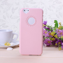 For iPhone 6 6s Plus case For iPhone 6s case Rose Gold Cute candy Color Loving Heart Flower Lace Hard Phone Case