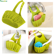Folding Creative Cleaning Filter Water Sink Double Decker Hanging Basket Storage Baskets Hang Bag For Bathroom Kitchen Tool(China)