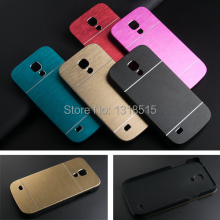 Luxury Brushed Metal Aluminium Material Case For Samsung Galaxy S4 mini i9190 phone case cover