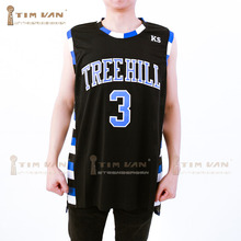 TIM VAN STEENBERGEB Lucas Scott 3 One Tree Hill Ravens Basketball Jersey All Sewn-Black(China)
