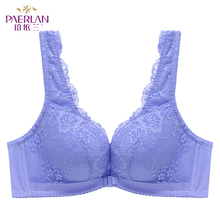 Buy PAERLAN Sexy Vest Underwear Women Wire Free Front Closure Lace Female Seamless Bra Summer Small Breasts Thick Push