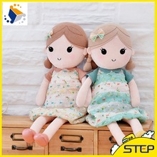Free Shipping High Quality 40cm 1PCS Cute Plush Doll with Skirts for Children Birthday Gifts for Girls ST387(China)