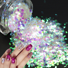 New Arrival 2mm Rhombus Rainbow 3D Slice Paillettes Nail Art Glitter Fashion DIY Transparent Sparkly Decorations Tips LQ