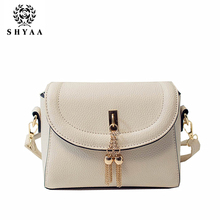 SHYAA 2016 Women Bag Fashion Women Messenger Bags Trend In The Bronze Authentic One Shoulder Aslant Handbags