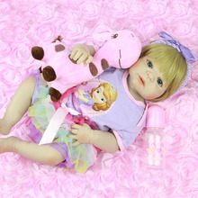 NPK New Arrival 23'' Realistic Girl Princess Toy Doll Reborn Full Silicone Vinyl Babies Lifelike Alive New Born Baby Dolls NPK
