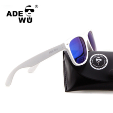 ADE WU Sunglasses Polarized Men Women High Quality White 50 MM Glasses Frame Sun Glasses For Driving Fishing With Original Case(China)