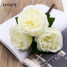3 pcs/set simulation rose flower Wedding party Bouquet Bride Bridesmaid Holding Flower Home Decor New Year Festival Gift(China)