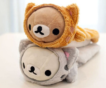 Super Kawaii NEW SAN-X Rilakkuma Bear CHANGE CAT 23CM  Kids  BAG Case Plush Coin Purse Wallet Pouch BAG Case