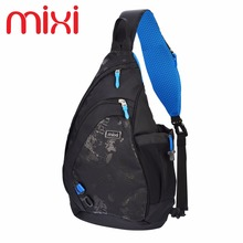 Mixi 2017 Fashion Waterproof Chest Bag Crossbody School Bags for Boy Casual Messenger Sling Bag Multi-layer Shoulder Handbag(China)