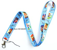 Free shipping 10 Pcs /Wholesale lots Super Mario Necklace Strap Lanyards Cell Phone PDA Key ID Strap Charms L087(China)