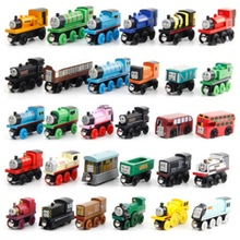 3PCS/lot 48 style default random hair wooden Thomas toy train children's Wooden locomotive Thomas series(China)