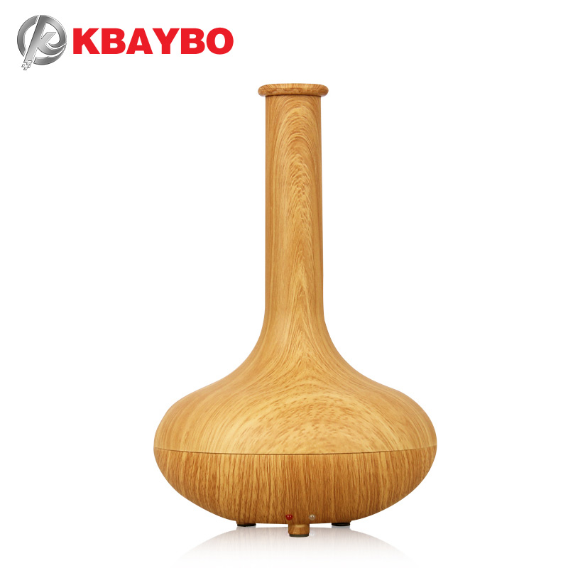 Essential Oil Diffuser Ultrasonic Humidifier aromatherapy air purifier mist maker home furnishings 7 color vase<br>