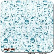 1m*10m TSD7503 High Quality Water Drop Light Blue Design 3d Hydrographic Films Aqua Print Water Transfer Printing Film