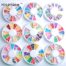 Hisenlee 3D Polymer Clay Fimo Animal Plants Fruit slices Wheel Nail Art DIY Designs Wheel Nail Art Decorations(China)