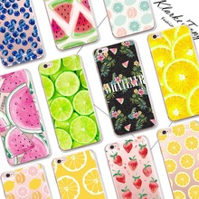 Pretty Fruit Lemon Watermelon Pattern Cell Phone Case For iPhone 6 6S 7 Plus 5 5S SE Transparent Silicone Phone Back Cover(China)