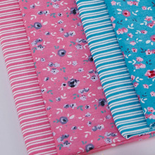 40x50cm Small Flowers & Stripe cotton fabric Fat Quarters Bundle Quilting Patchwork Sewing Fabric For Tilda Doll tissue tecido