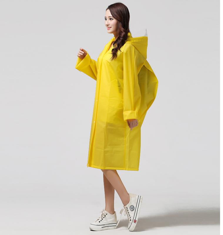 Women Transparent Portable Long Raincoats 18