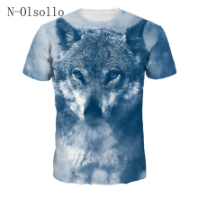 N-olsollo The Wolf Series 6 Design New Fashion 2018 Women Summer T shirts Short Sleeve Knitted Tshirts S-XXXL Bodycon Casual Top(China)
