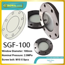 large size Glass window sight glass  for gear machine or equipment to monitor lubrication oil level and changes