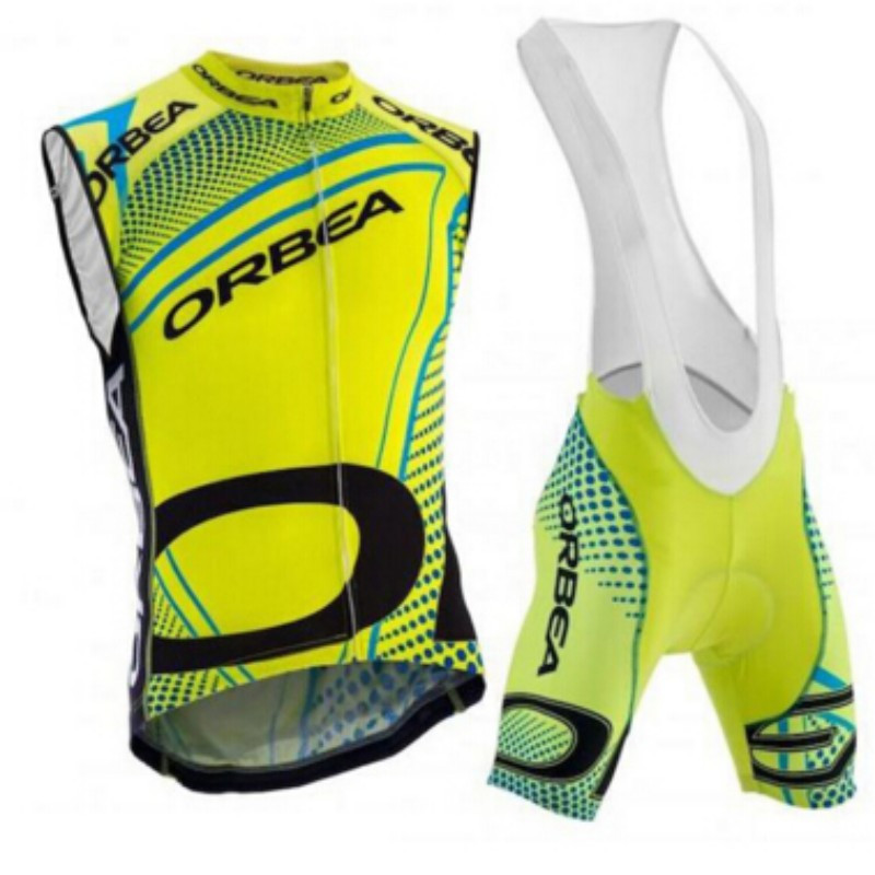 2017 ORBEA sleeveless cycling jersey jersey Ropa De Ciclismo tights bike set up bicycle wear gel pad for men 7 style to select<br>