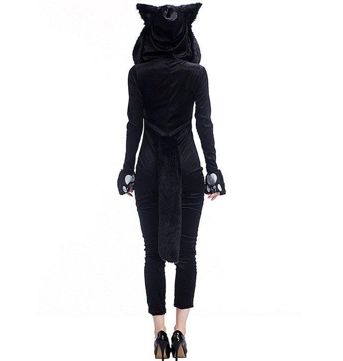 High Quality sexy lingerie cashmere jumpsuit cat lady cosplay sexy catsuit party role play teddies plus size cat lady women