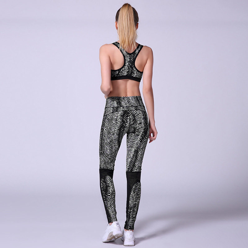 2 Pieces Striped Printed, Women's Tracksuit, Crop Top, Tanks And Leggings 8
