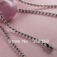 RYQY2.4mm/70cm round bead necklace, metal ball chains for necklaces, DIY silver ball chain string necklace beaded chain string