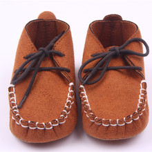 New Baby Boy Shoes Newborn Crib Shoes Toddler Lace Up Loafer Pre walker Shoes