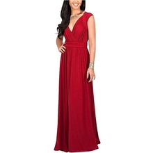 ZHIHONG Women Large Size Dress Evening Gown High-end Fashion Pure Color Sexy Dress(China)