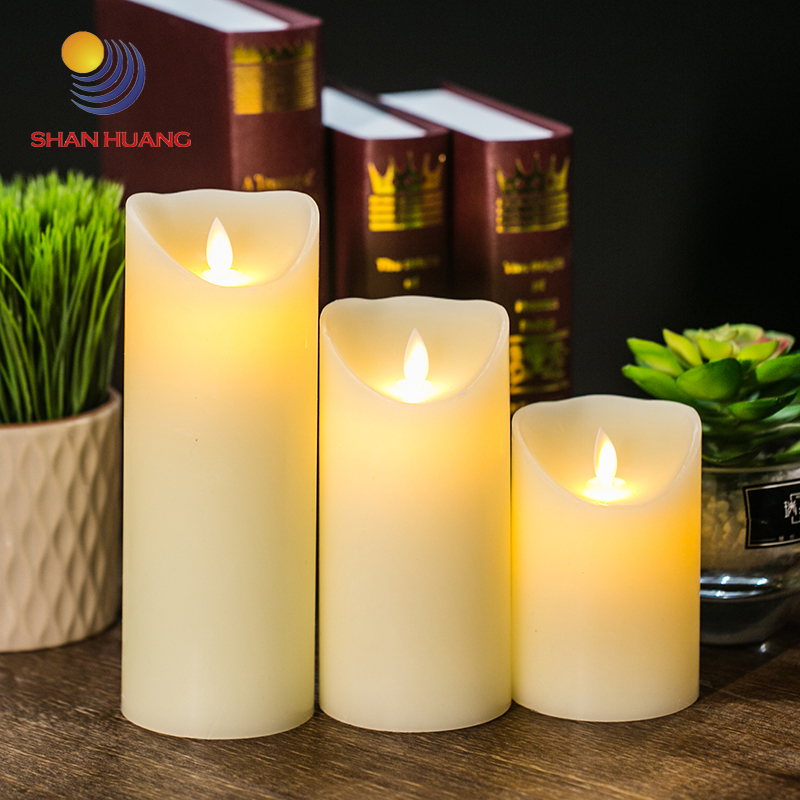 Christmas Gift Led Flame Moving Electronic Candles Wedding Decoration Battery Candle Wax China