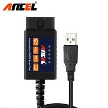 Ансель ELM327 USB V1.5 OBD OBD2 CANBUS сканер автомобильной OBD2 сканирования ELM 327 В 1.5 USB адаптер(China)