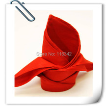 2015 Big Discount !!  100% polyester plain 45*45cm red napkin for wedding Free Shipping