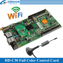 HD-C30 WIFI+USB+2 Ethernet Port(can be used as sending card) Asynchronous Video Full Color LED display WIFI Control Card(China)