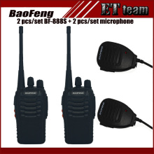 2 Pcs/Set baofeng BF-888S Walkie Talkie BF 888S Portable Radio 16CH Transmitter Transceiver with baofeng microphone for BF888s(China)