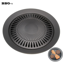 BBQ Grill Accessories Gas Grill Pan Refined Iron For Barbecue BBQ Plate Healthy Smokeless Roasting Outdoor Cooking Tools(China)