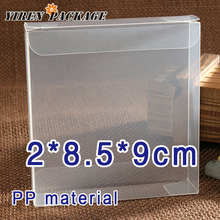 10 pcs/lot2*8.5*9cm pp material spot product / file container / clear boxes / gift box